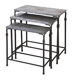 IMAX 74232-3 Gilbert Galvanized Nesting Tables - Set of 3