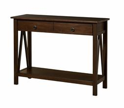 Linon Home Decor 86152ATOB-01-KD-U Titian Console Table Anti