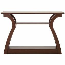 BCP 47in 3-Shelf Entryway Console Accent Table - Brown