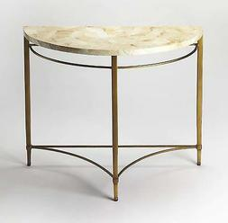 BUTLER MARLENA CABEBE SHELL DEMILUNE CONSOLE TABLE