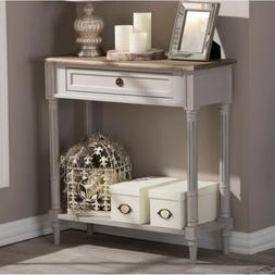 Baxton Studio Edouard French Provincial Distressed Console T