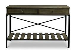 Baxton Studio Newcastle Wood and Metal Criss-Cross Console T