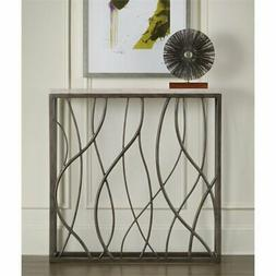 Beaumont Lane Thin Metal Console Table in Cream