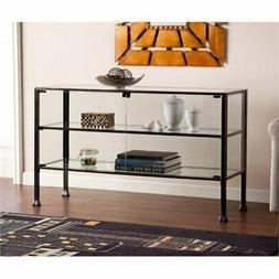 Bowery Hill Display Console Table in Black