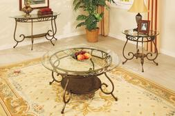 Bronze Finish Metal Coffee / Console / End Table Sphere Acce