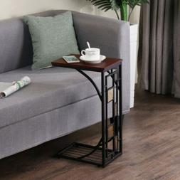 go2buy Living Room Sofa Side End Snack Table Stand Tray with