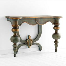 CYAN DESIGN LACROIX ANTIQUARIAN BLUE WOOD CONSOLE TABLE