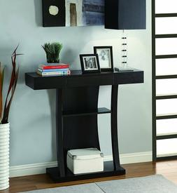 Coaster Contemporary Cappuccino T-Shaped Console Table with