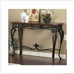 Console Table Entry Living Room Furniture Glass Metal Wood V
