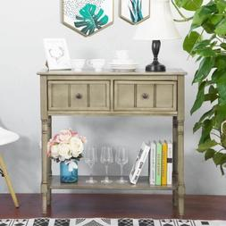 Console Table Sideboard Traditional Design with Two Drawers