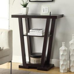 Convenience Concepts Newport V-Shaped Console Table