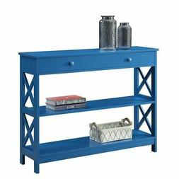 Convenience Concepts Oxford 1 Drawer Console Table in Blue