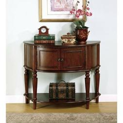 Demilune Entry Sofa Table Cappuccino