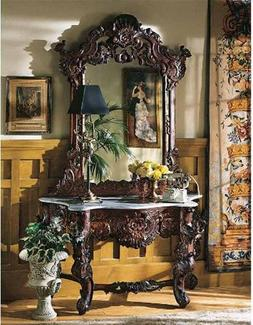 Design Toscano Madame Antoinette Wall Console Table and Salo