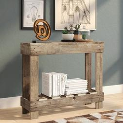 Entry Table Rustic Farmhouse Console Narrow Small Space Savi