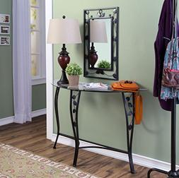 Entryway Table and Mirror Set Console Hall Decor Furniture I