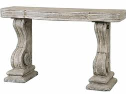 French Rustic Pedestal Concrete Stone Restoration Style XL C