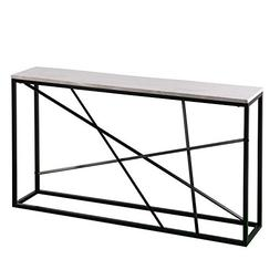Furniture HotSpot - Faux Marble Top Skinny Console – Matte