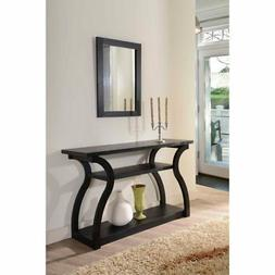 Furniture of America Brenda Console Table, Classic Black