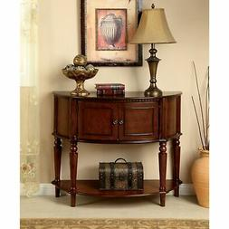Furniture of America Clerean Traditional Brown Cherry Consol