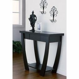 Furniture of America Shell Console Table, Black