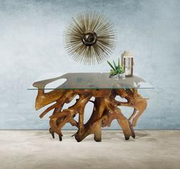Genuine Teak Wood Root Console Table, 48 Inch made by Chic T