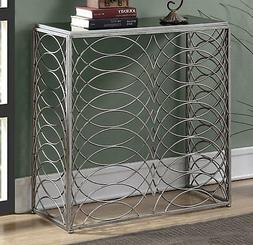 Gold Coast Tranquility Console Table U10-159, Silver / Black