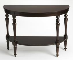 HANOVER SQUARE DEMILUNE CONSOLE TABLE - MAHOGANY FINISH - FR