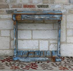 HEAVY BLUE DISTRESSED CONSOLE TABLE