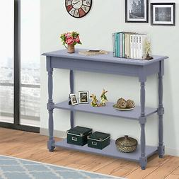 HOMCOM Console Table Wood Entryway Sofa Accent Hallway Livin