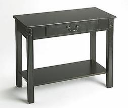 KENTON SQUARE CONSOLE TABLE - HALL TABLE - BLACK LICORICE -