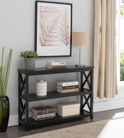 Kings Brand 3-Tier X-Design Console Entryway Sofa Table With
