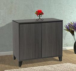 Kings Brand Furniture - 2 Door Cabinet Entryway Console Tabl