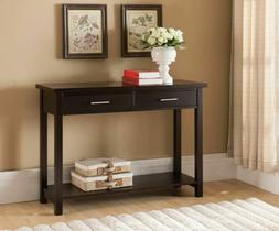 Kings Brand Furniture Wood Entryway Console Sofa Occasional