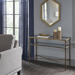 Madison Park Signature Porter Glass Console Table
