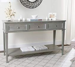 Manelin Ash Gray Storage Console Table Ample Storage and Org