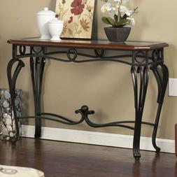 Metal Wood Console Table Sofa Entry Living Room Furniture Gl