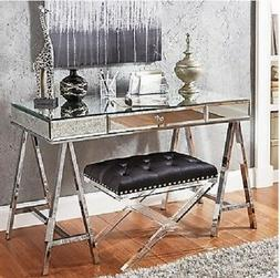 Mirrored Desk Console Sofa Writing Table Furniture Bedroom V
