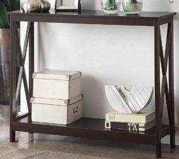Modern Console Table Open Shelf Living Room Solid Manufactur
