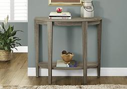 Monarch Specialties Reclaimed-Look Half Moon Hall Console Ac