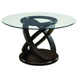 """Monarch Specialties I 1749 Tempered Glass Dining Table 48"""" E"""