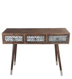 Privilege 32007 3 Drawer Accent Console Table - Wood Iron