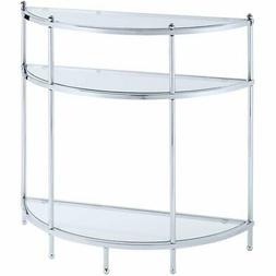 Royal Crest Entryway Table S11-141, Chrome / Glass Finish