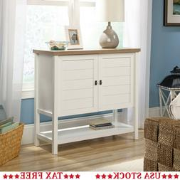 "Sauder Cottage Road 49"" Console Table in Soft White"