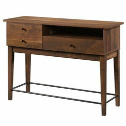 Sauder Harvey Park 2 Drawer Console Table in Grand Walnut