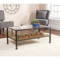 Southern Enterprises Terrarium Display Cocktail Coffee Table
