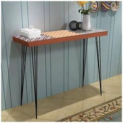 "@TOP Console Table 35.4""x11.8""x28"" Brown"
