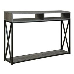Tucson Deluxe 2 Tier Console Table 161889WGY, Weathered Gray