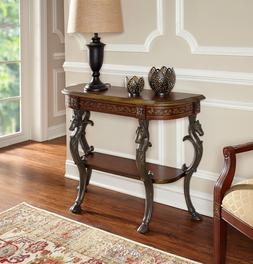 Vintage Console Table with Horse Head Luxurious Hoof Leg Dis