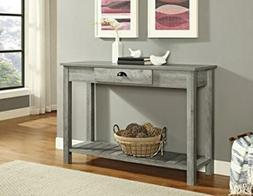 WE Furniture AZF48CYETGW Country Style Entry Console Table,